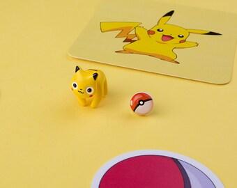 Pikachu Cat Earring / Nine studs