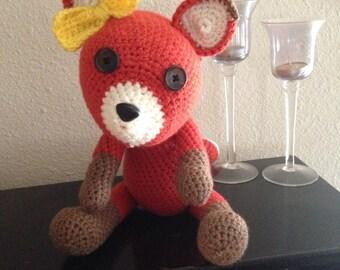 Foxy Loxy crocheted stuffed animal