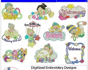 Embroidery Design Cd - Baby(4) - 10 Designs - 9 Formats - Threadart