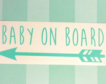 Baby on Board Decal | Baby on Board Car Decal | Vinyl Decal | Baby Decal | Baby Car Decal | New Baby Decal | New Mom Gift | Baby Shower