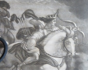Horseman of the Apocalypse Engraved Book Plate - The Conqueror On A White Horse After Loutherbourg