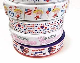 10 yard Patriotic 4th Of July Lot Grosgrain Ribbon