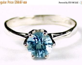 Summer Sale, 30% Off, SR311, Swiss Blue Topaz, 925 Sterling Silver Ring