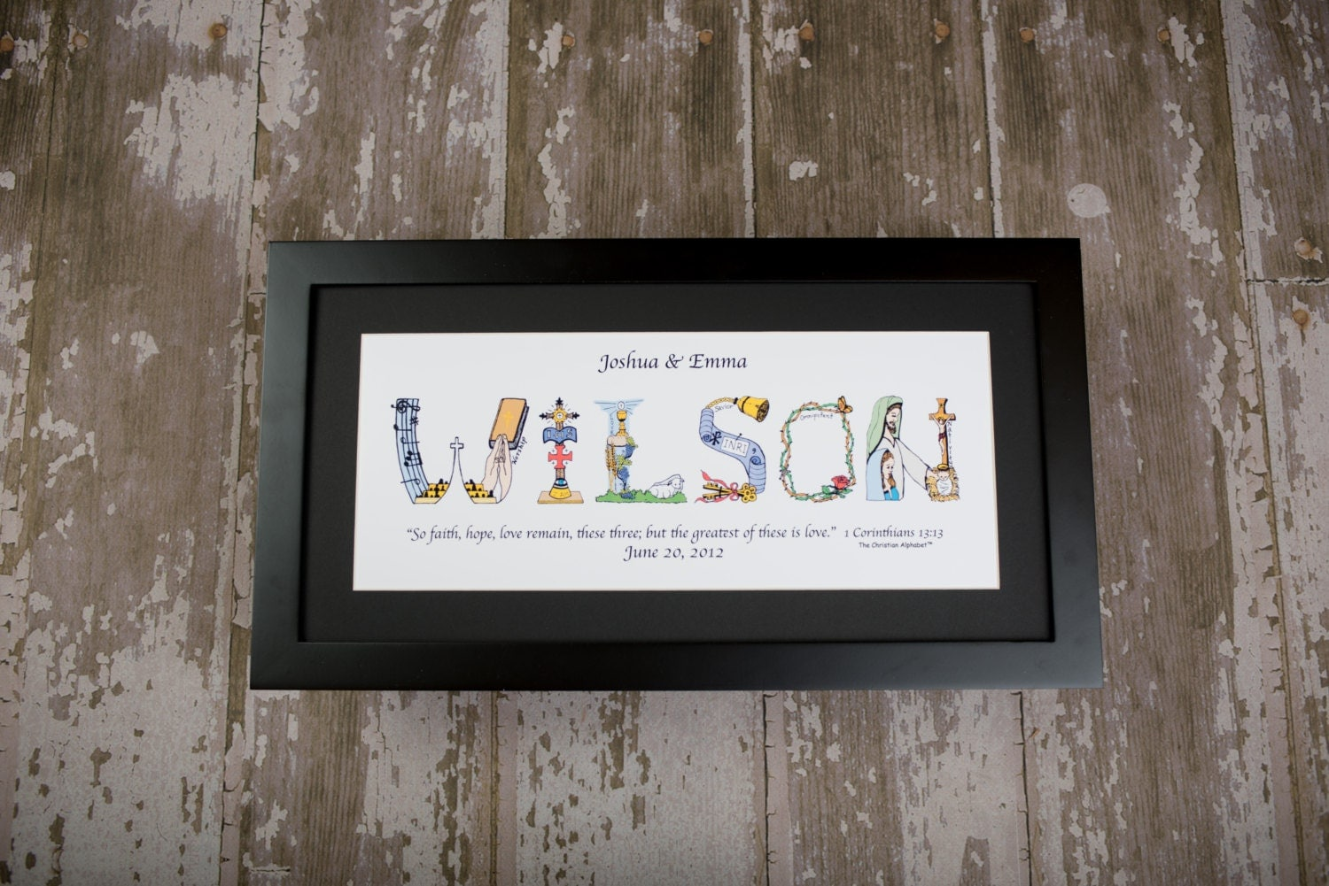 Unique 25th Wedding Anniversary Gifts: 25th Anniversary Gift Personalized By TheChristianAlphabet