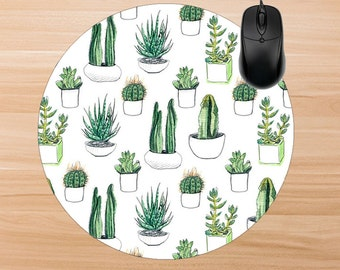 Cactus Mouse Pad. Personalized Mouse Pad. Monogram Mouse Pad. Personalized Office Gifts. Teacher Gifts. Promotional Items.