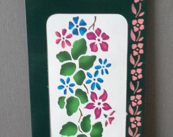 flower stencil unused country style