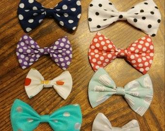 Polka Dot Bow CUSTOMIZABLE [hair bow OR bow tie]