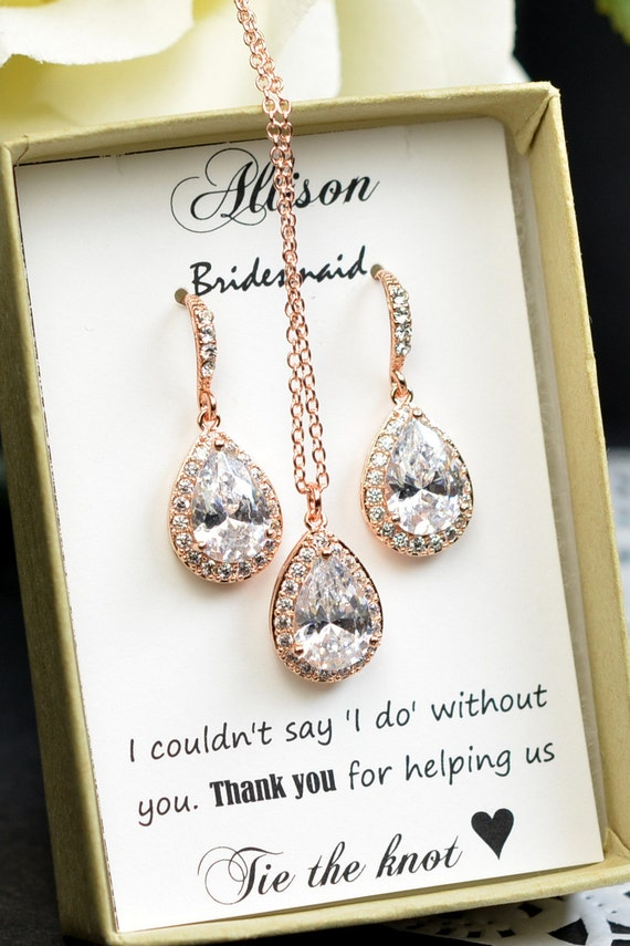Wedding Gift Jewelry : Wedding Jewelry Bridesmaid Gift Bridesmaid Jewelry Bridal Jewelry tear ...