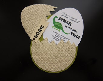 Dinosaur Egg Invitation