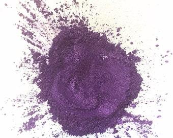 PURPLE RAIN Mineral Eyeshadow -  Shimmery Purple Eye Shadow - Gluten Free Vegan Mineral Makeup