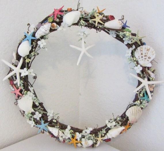 Do It Yourself Home Design: Shell Wreath Beach Decor Starfish Wreath Seashell By
