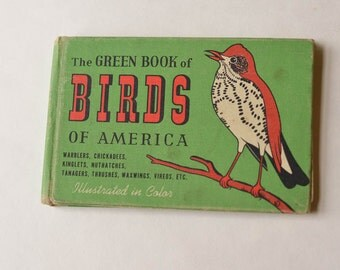 Bird Book Vintage The Green Book of Birds of America