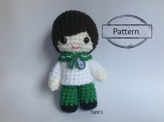 Free Amigurumi Boy Doll Patterns : Crochet pattern Doll : Nautical Sailor Boy Doll Amigurumi pdf