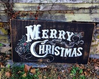 Christmas Sign, Merry Christmas