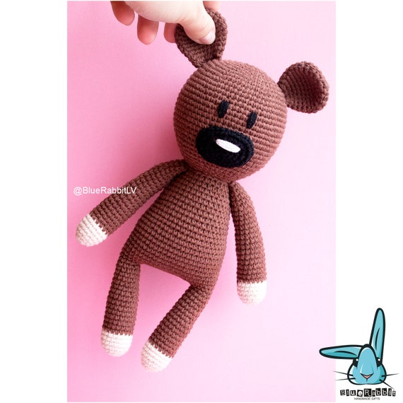 Free Knitting Pattern For Mr Bean s Teddy Bear : Mr.Beans Teddy bear - amigurumi crochet pattern. Inspired by Mr.Bean car...