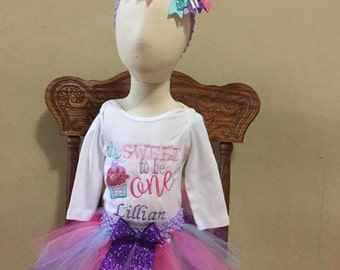 It's Sweet to be One Birthday tutu outfit