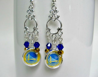 Golden State Warriors Earrings, Golden State Warriors Jewelry, GS Warriors, Golden State Warriors Accessories, Gifts for Her, Warriors Woman