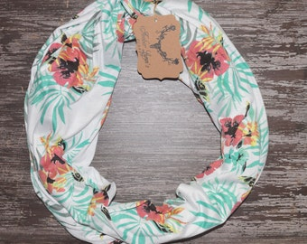 Tropical Infinity Scarf // Tropical Loop Scarf // Hawaiian Infinity Scarf // Hawaiian Loop Scarf // Infinity Scarf