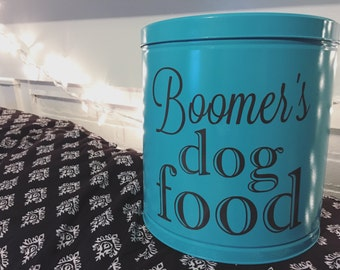 personalized dog food container label | decal