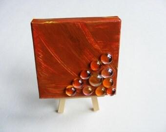 Orange Crush abstract - 4x4