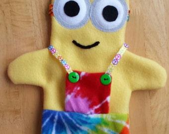 Tie Dye Minion Hand Puppet