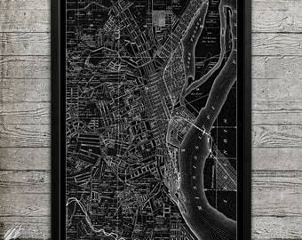 Map of DUBUQUE Print, Wall Decor for your Home or Office