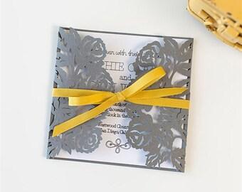 Elegant Wedding Invitations-set of 10