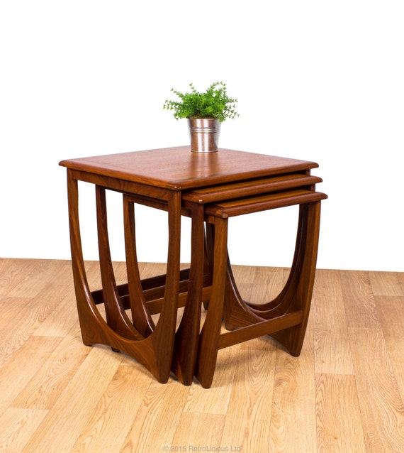 G Plan Fresco Nest Of Solid Teak Tables Coffee Tables Retro