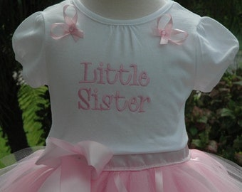 Little Sister Big Sister Outfit, Pink Tutu Little Sister Outfit