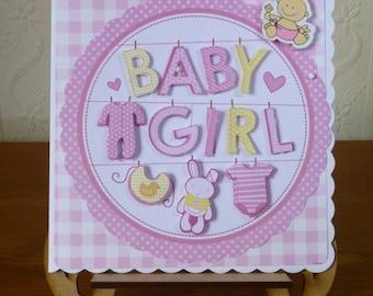 3D Baby Girl Card