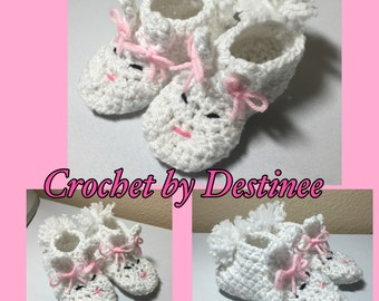 Crochet NB thru adult bunny rabbit slippers photography prop