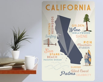 California Tourist Attractions Wall Decal - #60681