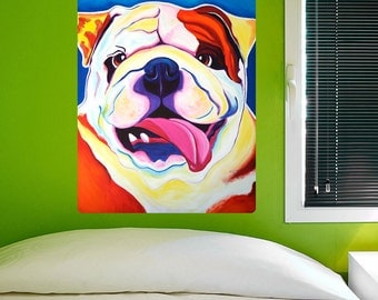 Bully Grin English Bulldog Dog Wall Decal - #59971
