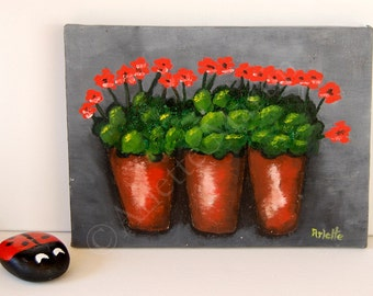 OIL painting canvas. ORIGINAL PAINTING.Canvas. Flowers. Small painting. Still Life