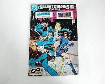 Secret Origins, Midnight,Nightshade, Dc, Vintage DC, Comic Book, Secret Origins Comics, Vintage DC,Retro Comics, Nightshade Comic