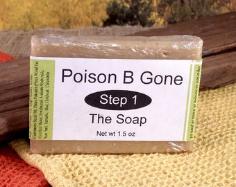 Poison ivy soap, Poison oak soap, Poison sumac soap, Jewelweed soap, FREE shipping, Poison B Gone Soap, Oil removing soap