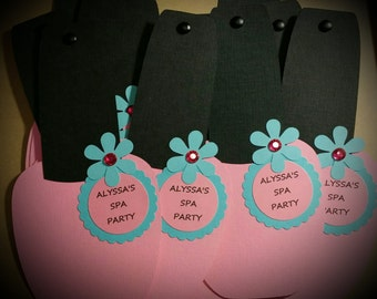 SPA PARTY INVITATIONS - Nail Polish Invitations Set of 8