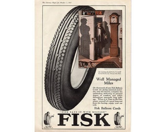 Vintage 1927 magazine ad for Fisk tire - 21