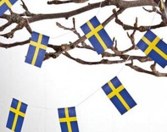 Scandinavian Flag Party Garland - Sweden or Norway