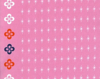 Cotton + Steel Mustang 0005 01 White Stars On Pink By Melody Miller