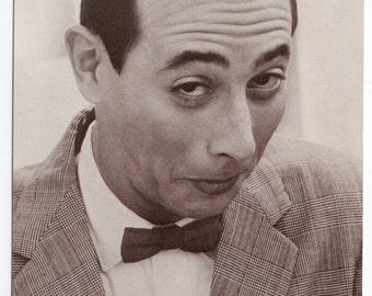 Postcard with Pee-Wee Herman Portrait