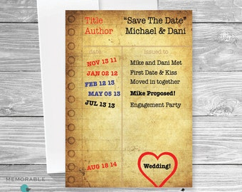 Save The Date Invitations - Wedding Save The Dates - Notepad Save The Date - Unique Save The Dates - Unique Wedding - Printable Invitations