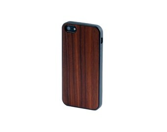 Real Rosewood Wood iPhone 5/5S Case with Bumper Edge