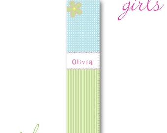 Personalized Growth Chart Girl - Children's Growth Chart - Candy Shoppe Height Chart (925)