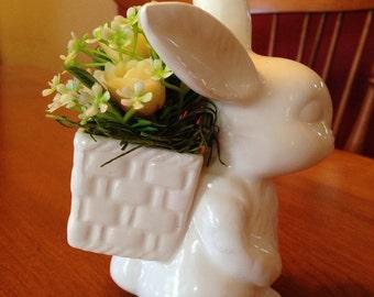 Sweet Little Ceramic Bunny Flower arrangement