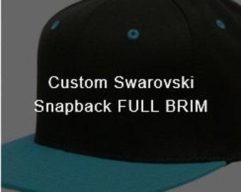 Custom Swarovski Snapback FULL BRIM