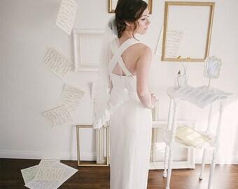 40% OFF SALE Vintage 1930s-Inspired Wedding Dress / Size XS Small / Porcelain Isadora Wedding Dress