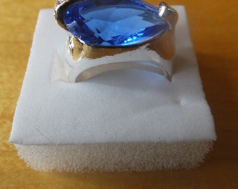 Sterling Silver CZ Ring.....Size 7
