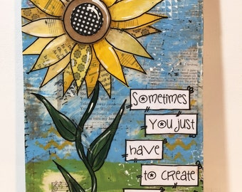 Sunflower painting, Create your own sunshine