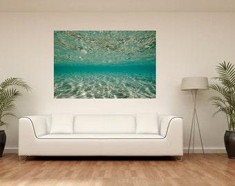 Underwater Photography, Clear Seas, Beach photos, Aqua Sea Photography, Sea Green, Blue Green Aqua Print, Aqua Print Decor, Sea, Australia